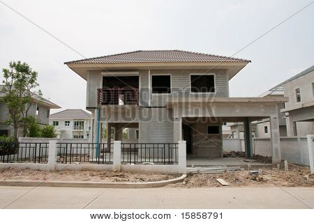 home currently under construction