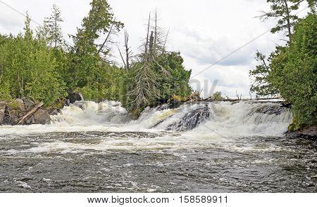 Kennebas Falls in Quetico Provincial Park in Ontario Canada