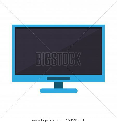 blue computer technology work device vector illustration eps 10