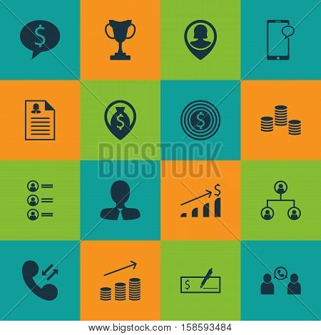 Set Of Human Resources Icons On Job Applicants, Business Goal And Money Navigation Topics. Editable Vector Illustration. Includes Goal, Profile, Male And More Vector Icons.