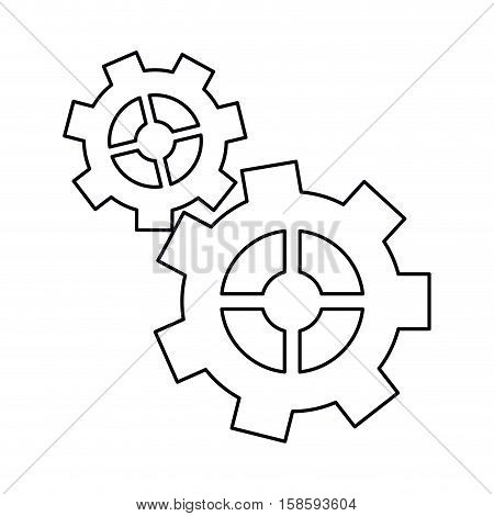 pictogram gear wheel engine cog icon vector illustration eps 10