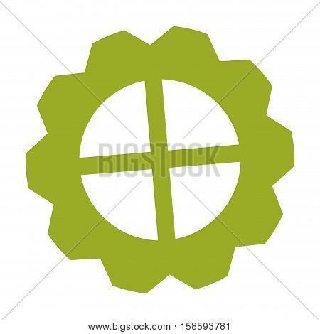 neon green gear wheel engine cog icon vector illustration eps 10