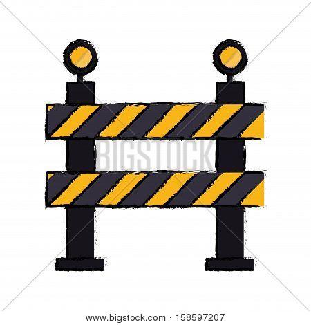 barrier restricted street stripe design drawing vector illustration eps 10