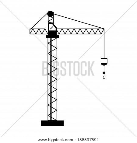 crane hook construction machine pictogram vector illustration eps 10
