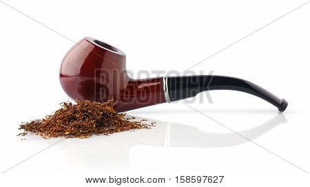 Classic Smoking Pipe And Tobacco