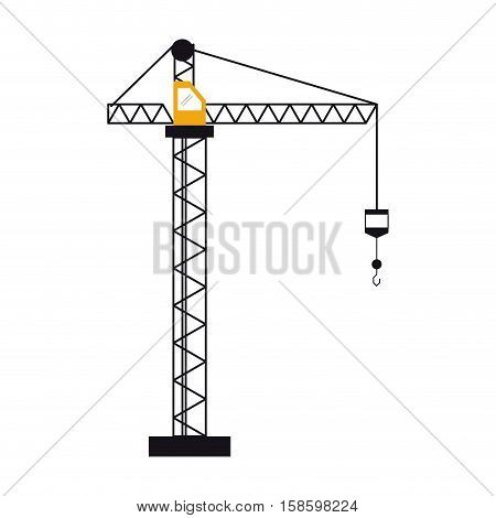 crane hook construction machine vector illustration eps 10