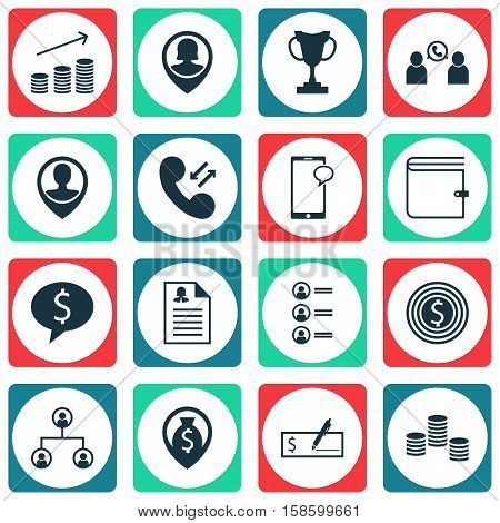 Set Of Management Icons On Job Applicants, Wallet And Female Application Topics. Editable Vector Illustration. Includes Cellular, Chat, Increase And More Vector Icons.