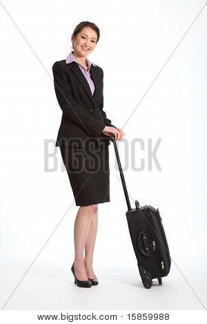 Geschäftsreise für Karrierefrau