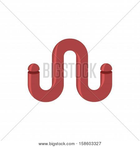 W Letter Tube. Abstract Logo. Eemblem Of Letter