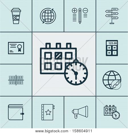 Set Of 12 Universal Editable Icons. Can Be Used For Web, Mobile And App Design. Includes Icons Such As Opportunity, Connectivity, Appointment And More.