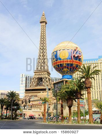 A sunny shot of Paris on the Strip