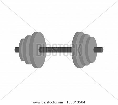 Dumbbell Isolated. Fitness Equipment. Sports Accessory On White Background