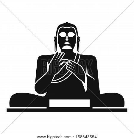 Buddha statue icon. Simple illustration of buddha statue vector icon for web