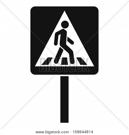 Pedestrian sign icon. Simple illustration of pedestrian sign vector icon for web