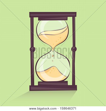 Hourglass cartoon illustration time sandglass retro style vector image