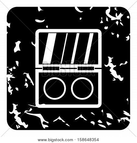 Eye shadow icon. Grunge illustration of eye shadow vector icon for web design