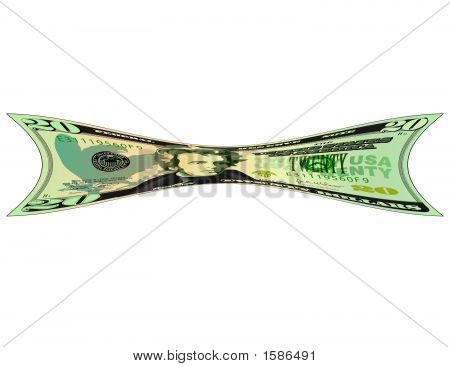20 Dollar Bill Stretched