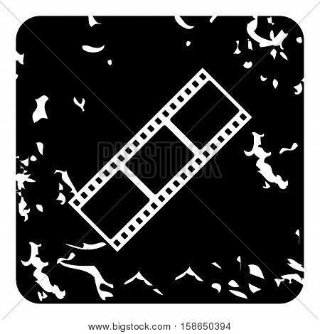 Film strip icon. Grunge illustration of film strip vector icon for web design