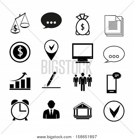 Business icons communication finance office team presentation document. Human resources and management business icons set. Internet time web technology business icons information chart.