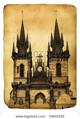 Vintage Postcard - Praga