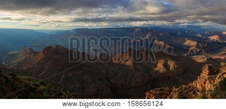 Awesome Landscape Of Grand Canyon From North Rim; Arizona; United States