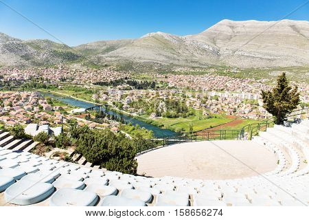 Open amphitheater at Crkvina hill in Trebinje, Bosnia and Hercegovina