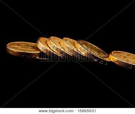 Fallen Pound Coins
