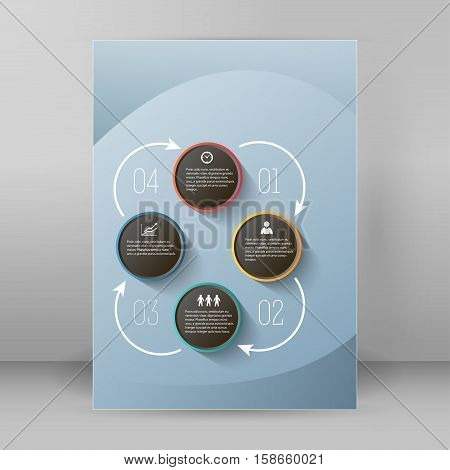 Design business presentation template. Vector illustration for ...