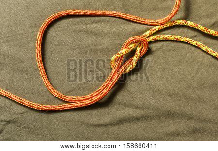 Tied Reef Knot.