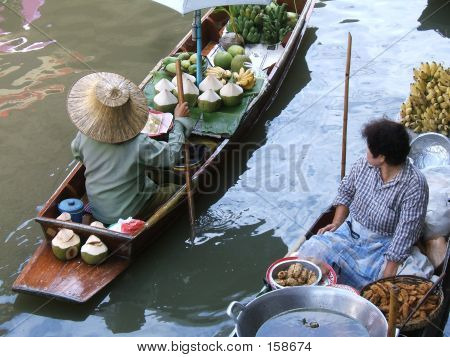 Women Selling In A Floating Market
