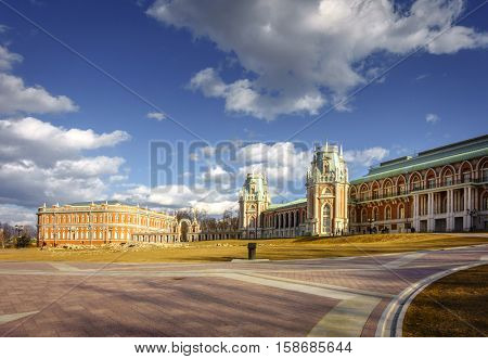 Tsaritsyno Palace in Moscow originally built for Catherine The Great