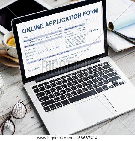 Online Application Form Document Recruitment Concept
