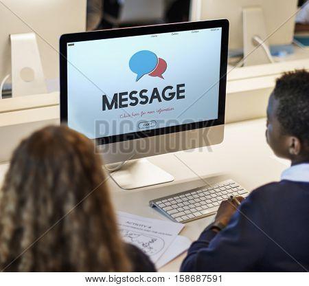 Social Blog Communication Connection Message Concept