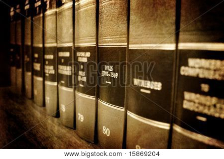 Law Books About Wills And Estates On Shelf