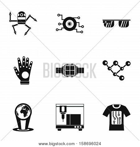Electronic devices of future icons set. Simple illustration of 9 electronic devices of future vector icons for web