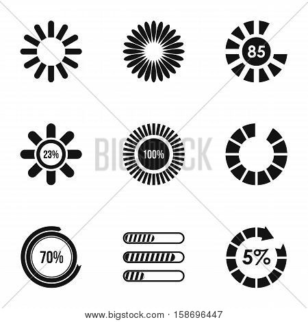 Download icons set. Simple illustration of 9 download vector icons for web