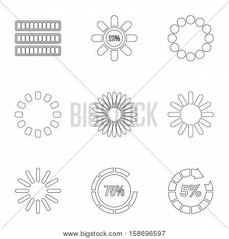 Sign download icons set. Outline illustration of 9 sign download vector icons for web