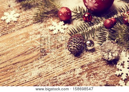 Christmas greeting card background in red and white