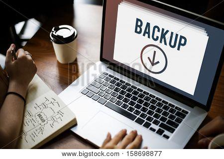 Storage Data Information Download Concept