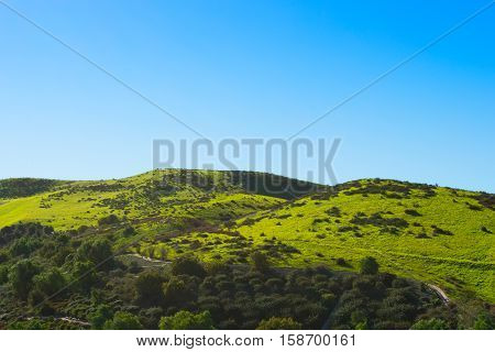 Rolling Green Hills in Chino Hills California