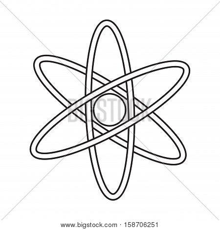 atom molecule structure model pictograph vector illustration eps 10