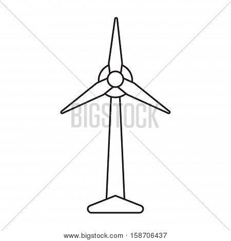 ecology wind turbine electricity generator pictograph vector illustration eps 10