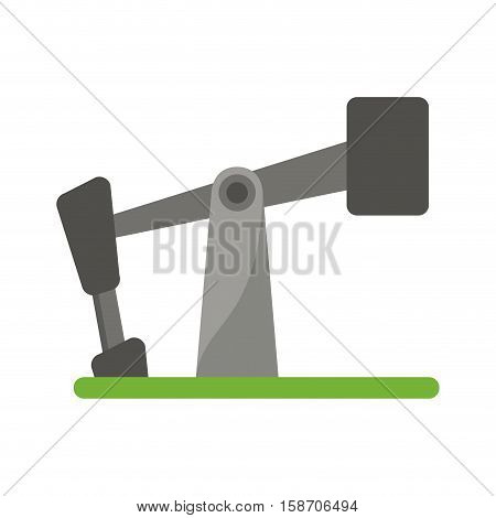 oil pump drilling petroleum industry vector illustration eps 10