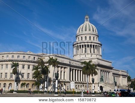 Havana - June 30, 2011. View Of National Capitol Building