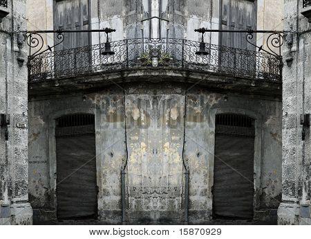 Grunge Havana Balcony Background