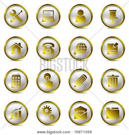 Conjunto de ícones de ouro