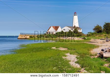 Lynde Point Lighthouse, Old Saybrook, Connecticut, USA