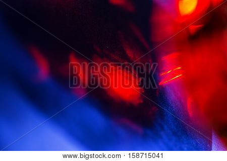 Abstract red and blue artistic background, close up photo