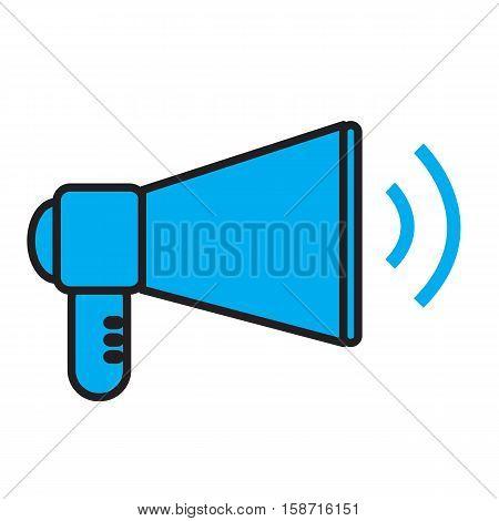 megaphone concept news digital internet design. megaphone symbol.