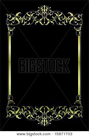 gold vector frame